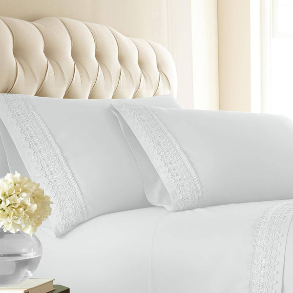 Vilano Springs Lace Hem Pillow Cases