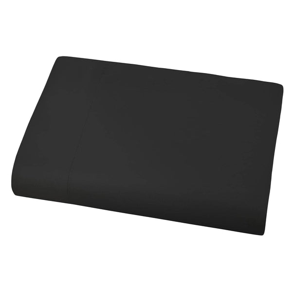 Soft and Luxurious Over-sized Flat Sheet 132 in x 110 in by Vilano springs in Black
