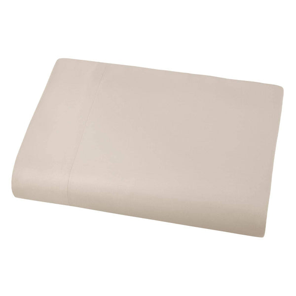 Soft and Luxurious Over-sized Flat Sheet 132 in x 110 in by Vilano springs in Bone