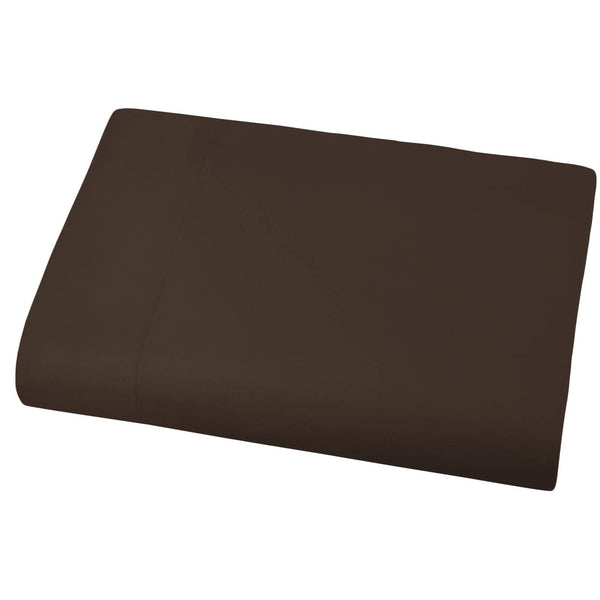 Soft and Luxurious Over-sized Flat Sheet 132 in x 110 in by Vilano springs in Brown