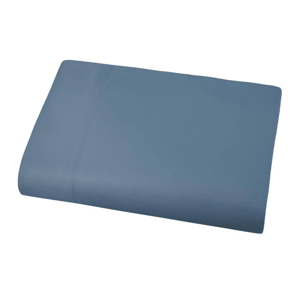 Soft and Luxurious Over-sized Flat Sheet 132 in x 110 in by Vilano springs in Coronet Blue