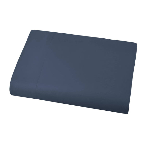 Soft and Luxurious Over-sized Flat Sheet 132 in x 110 in by Vilano springs in Dark Blue