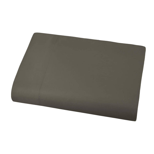 Soft and Luxurious Over-sized Flat Sheet 132 in x 110 in by Vilano springs in Dark Taupe
