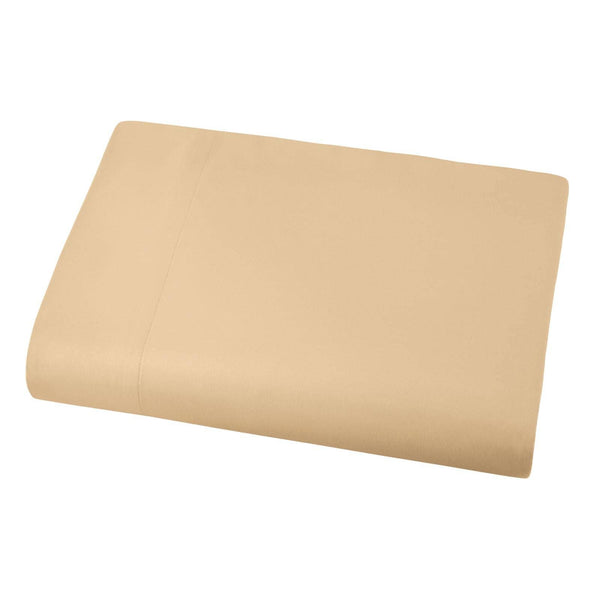 Soft and Luxurious Over-sized Flat Sheet 132 in x 110 in by Vilano springs in Gold