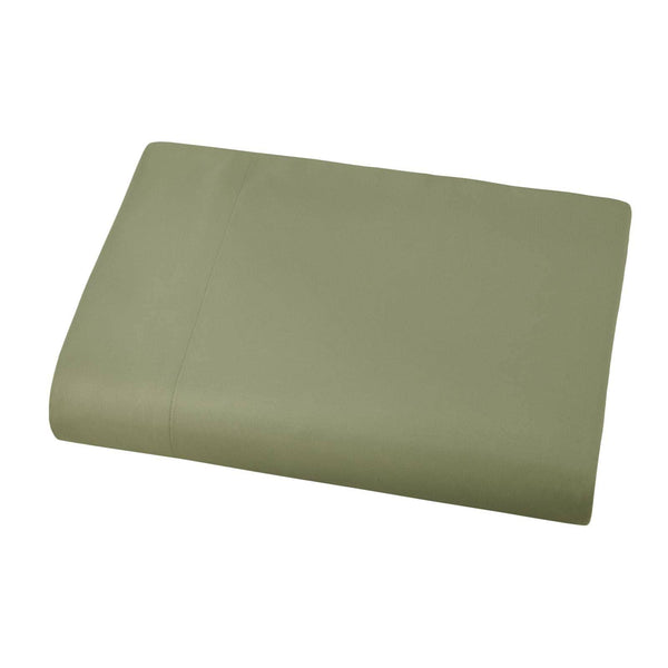 Soft and Luxurious Over-sized Flat Sheet 132 in x 110 in by Vilano springs in Sage Green