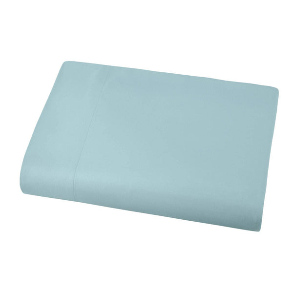 Soft and Luxurious Over-sized Flat Sheet 132 in x 110 in by Vilano springs in Sky Blue