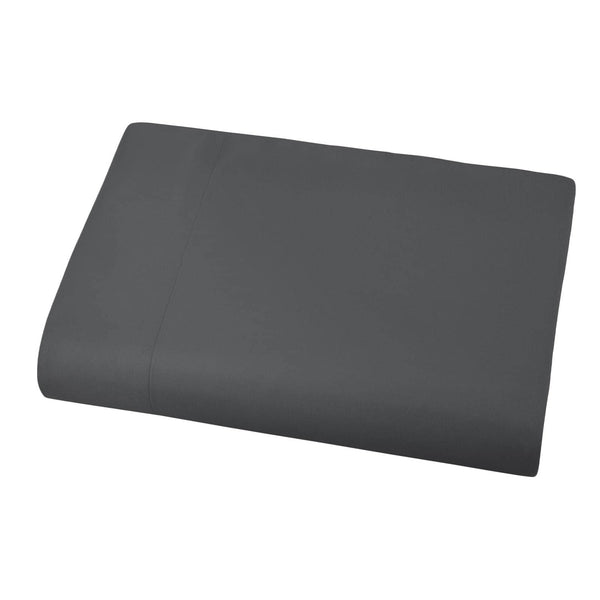 Soft and Luxurious Over-sized Flat Sheet 132 in x 110 in by Vilano springs in Slate