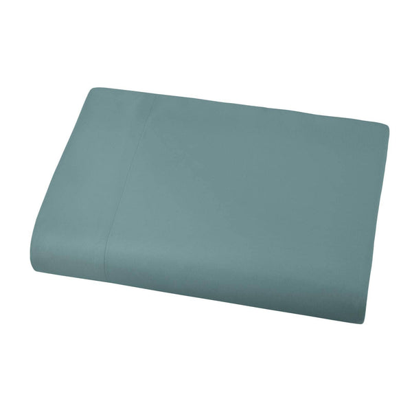 Soft and Luxurious Over-sized Flat Sheet 132 in x 110 in by Vilano springs in Steel Blue