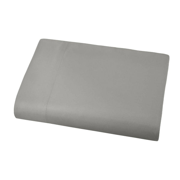 Soft and Luxurious Over-sized Flat Sheet 132 in x 110 in by Vilano springs in Steel Grey