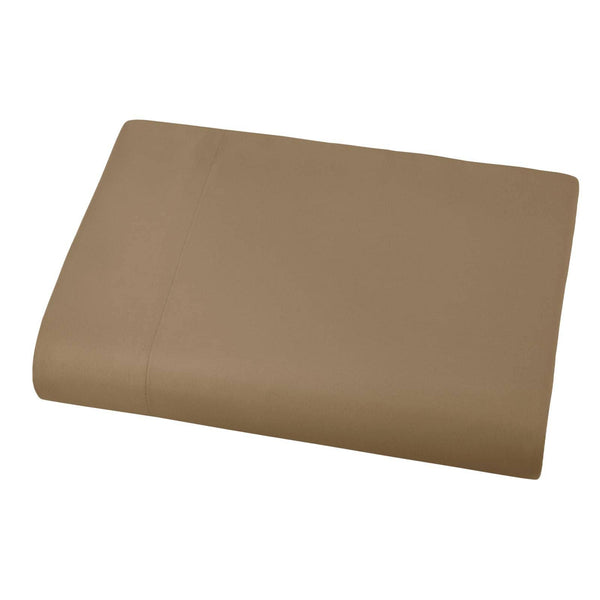Soft and Luxurious Over-sized Flat Sheet 132 in x 110 in by Vilano springs in Taupe