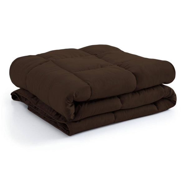All-Season Classic Plush Down Alternative Comforters by Vilano Springs in Brown