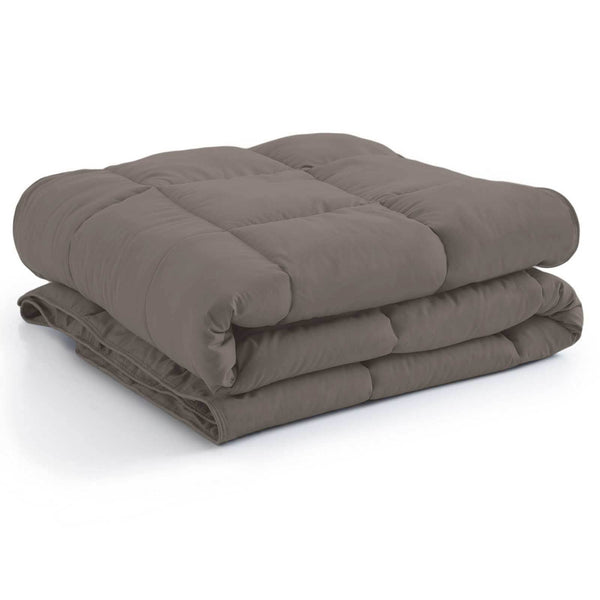 All-Season Classic Plush Down Alternative Comforters by Vilano Springs in Dark Taupe