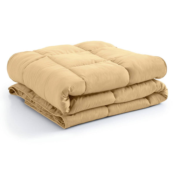 All-Season Classic Plush Down Alternative Comforters by Vilano Springs in Gold