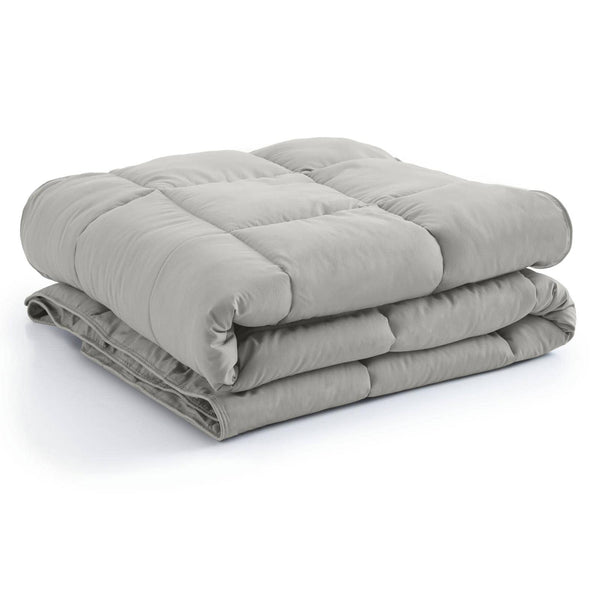 All-Season Classic Plush Down Alternative Comforters by Vilano Springs in Steel Grey