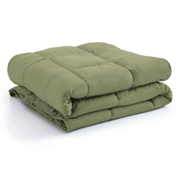 All-Season Classic Plush Down Alternative Comforters by Vilano Springs in Sage Green