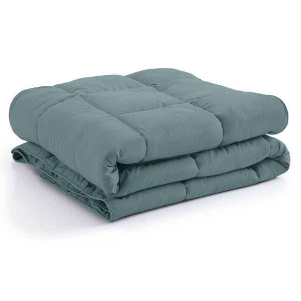 All-Season Classic Plush Down Alternative Comforters by Vilano Springs in Steel Blue