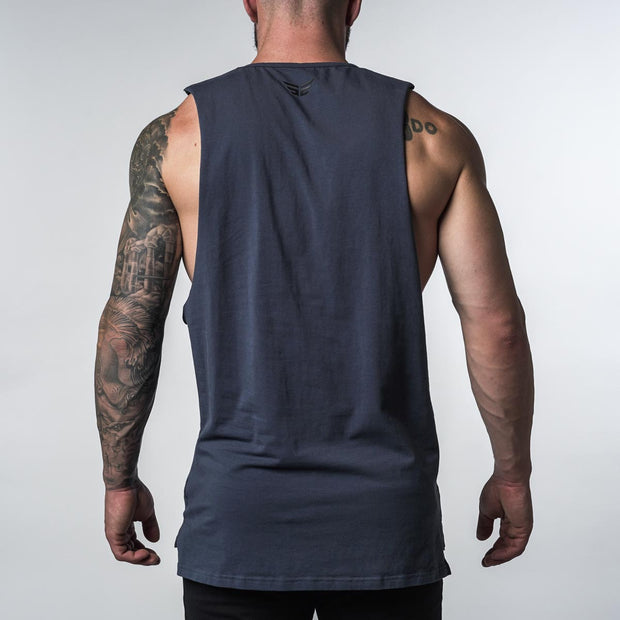 Cut Off Tank - Blue