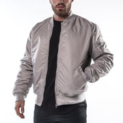 Bomber Jacket - Light Grey