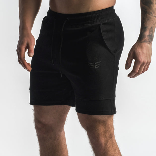 Elevated Jogger Shorts - Black