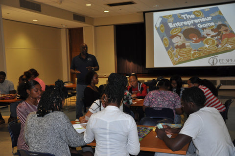 The Entrepreneur Game by EESpeaks Teaching Entrepreneurship to over 100 high school students