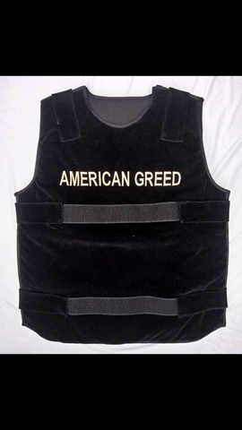 "Black ""American Greed Vest"""