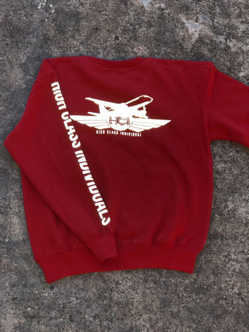 Red reflective Crewneck