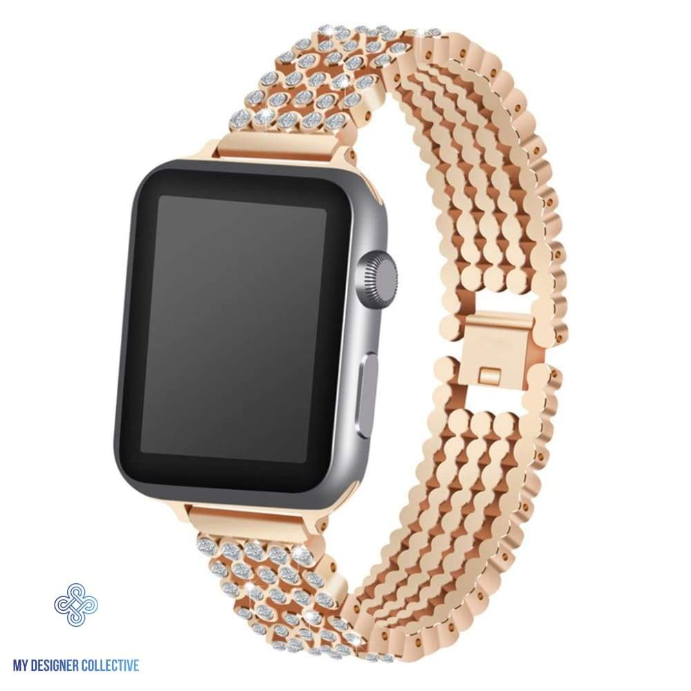 My Designer Collective Diamante Crystal Bracelet Watch Band For Apple Watch