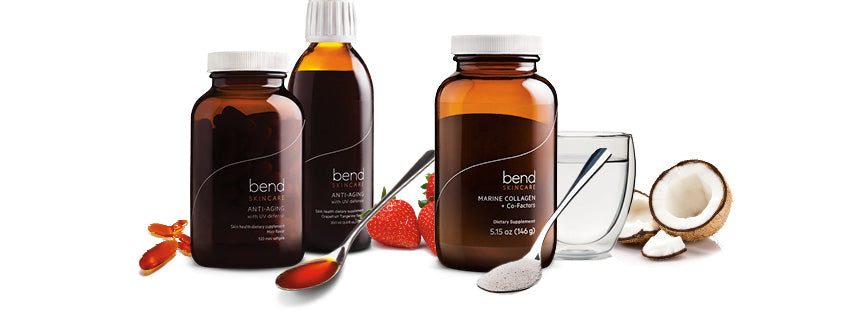 Bend Skincare Anti-Aging Formula, Marine Collagen Supplements