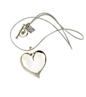 Mini White Gold Heart