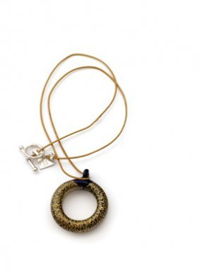 Gold Open Mini Necklace