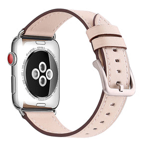 Mkeke Compatible for Apple Watch Band 42mm 44mm Genuine Leather Apple Watch Series 3 Series 2 Series 1 42mm 44mm Bands,Beige