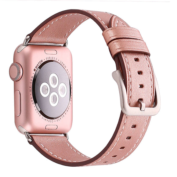 Mkeke Compatible for Apple Watch Band 42mm 44mm Genuine Leather Apple Watch Series 3 Series 2 Series 1 42mm 44mm Bands Rose Gold