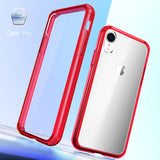 Mkeke Compatible with iPhone XR Case,Clear Anti-Scratch Shock Absorption Cover Case for iPhone XR Red