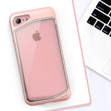 iPhone 8 Case, iPhone 7 Case, Clear Scratch Resistant Transparent Back Cover with TPU Rubber Shock Bumper for iPhone 8 & iPhone 7 Air Space Shockproof -Rose Gold