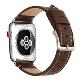 Mkeke Compatible with Apple Watch Band 42mm 44mm Mkeke Genuine Leather iWatch Bands Chocolate