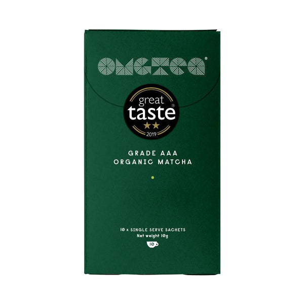 OMGTea Organic Matcha AAA Grade Single Serve 10-Pack-Powdered Matcha Tea-OMGTeas