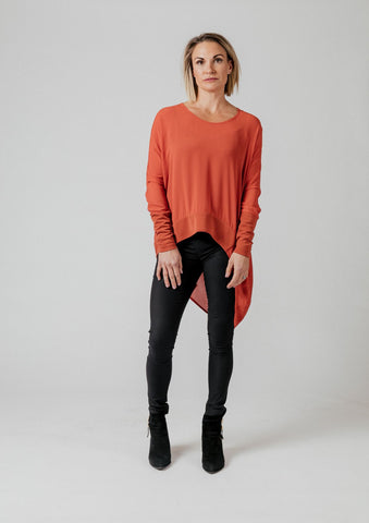Moss Liliana Drape Top - Brick