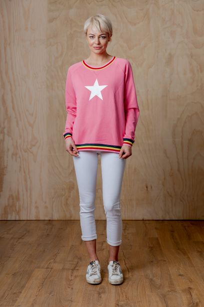 Pink star sweater Top