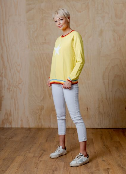 Yellow star sweater Top