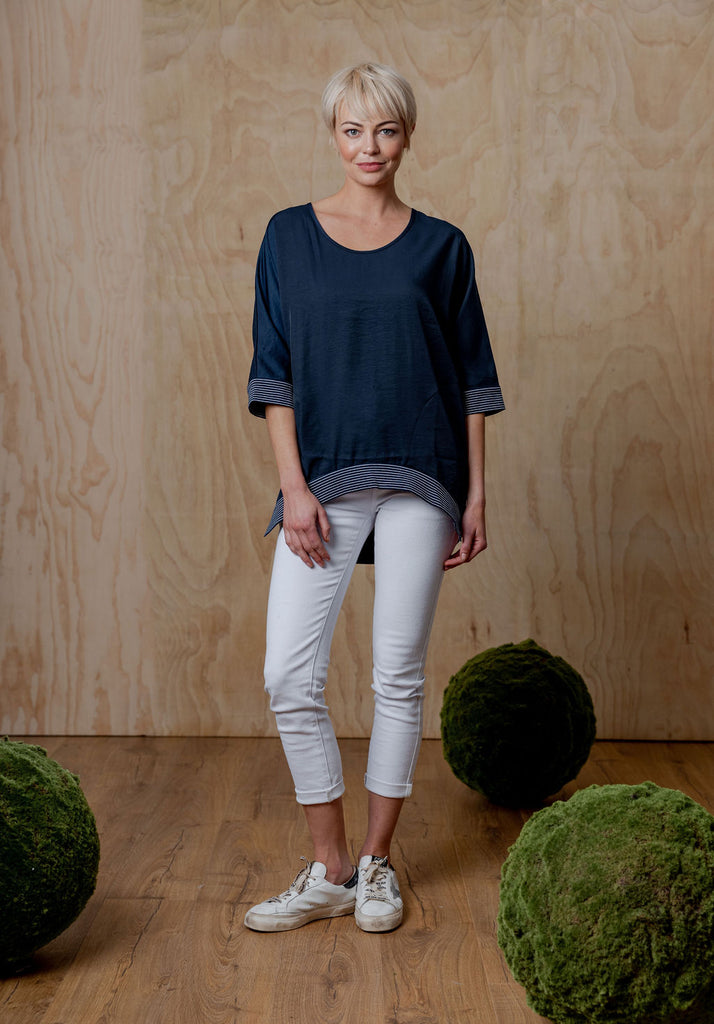 Moss Addison Top - Navy