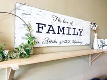 Load image into Gallery viewer, Large Family Sign