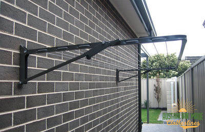 Austral Compact 28 Clothesline - Installed Wall Mounted - Australian Made Clotheslines