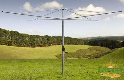 Austral Deluxe 4 Rotary Clothes Hoist - Installed - Australian Made Clotheslines