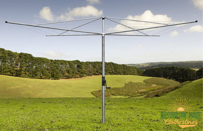 Austral Deluxe 5 Rotary Clothes Hoist - Galvanized Rotary Installed - Australian Made Clotheslines