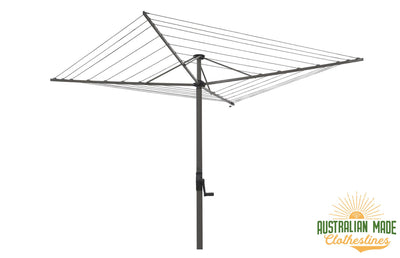 Austral Foldaway 45 Rotary Clothesline - Woodland Grey - Australian Made Clotheslines