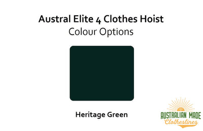 Austral Elite 4 Clothes Hoist - Colour Scheme - Australian Made Clotheslines