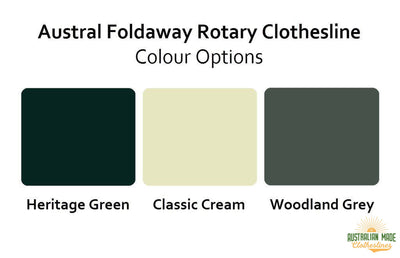Austral Foldaway 45 Rotary Clothesline - Colour Scheme - Australian Made Clotheslines