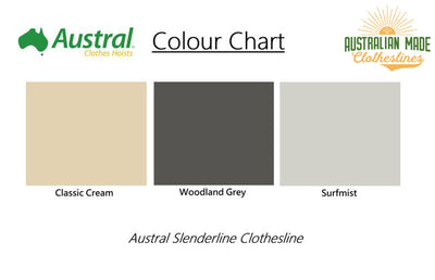 Austral Unit Line 15 Clothesline - Colour Scheme - Australian Made Clotheslines