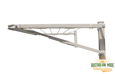 Eco 120 Clothesline - Surfmist Right Side - Australian Made Clotheslines