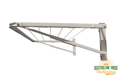 Eco 120 Clothesline - Surfmist Right Perspective - Australian Made Clotheslines
